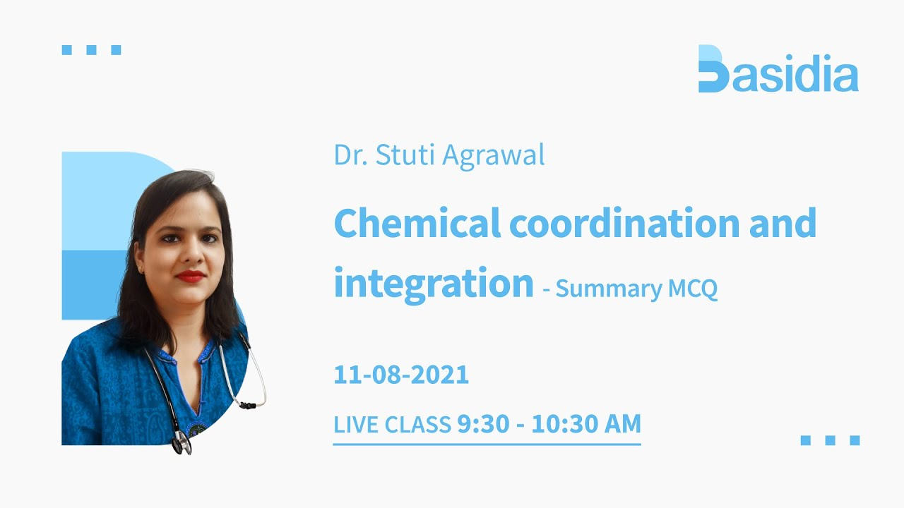 Chemical Coordination and Integration for NEET