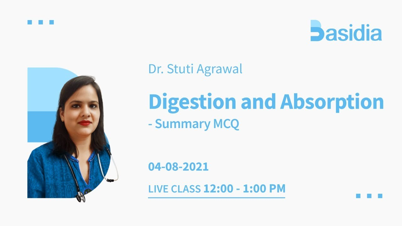 Digestion and Absorption for neet