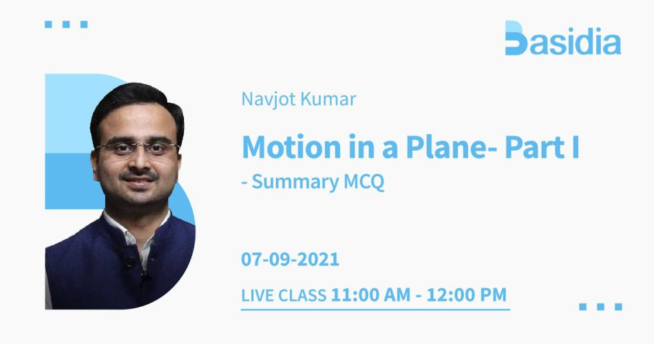 Motion in a Plane for NEET in One-shot