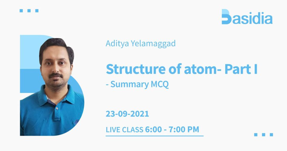 Structure of atom in one shot